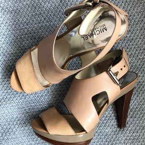 MICHAEL Michael Kors Carla Leather Platform Heels